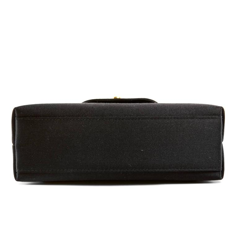 Chanel Black Satin Evening Bag 4
