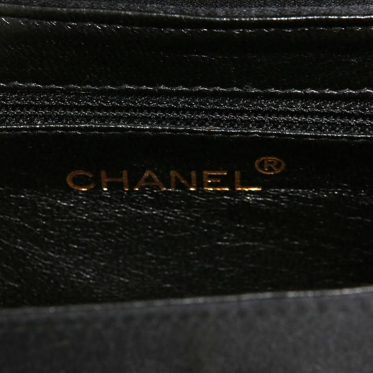 Chanel Black Satin Evening Bag 7