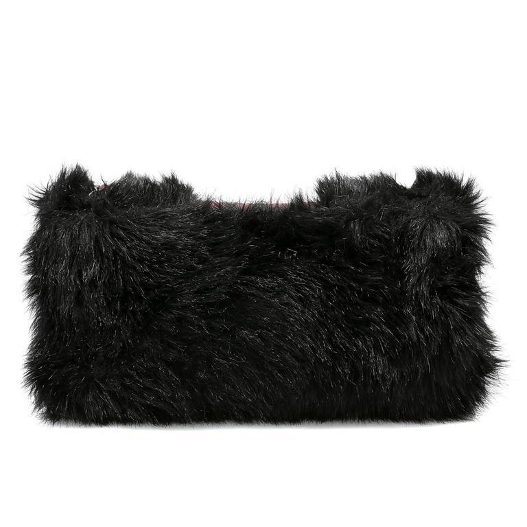 Chanel Bordeaux Fur Arctic Flap Bag 3