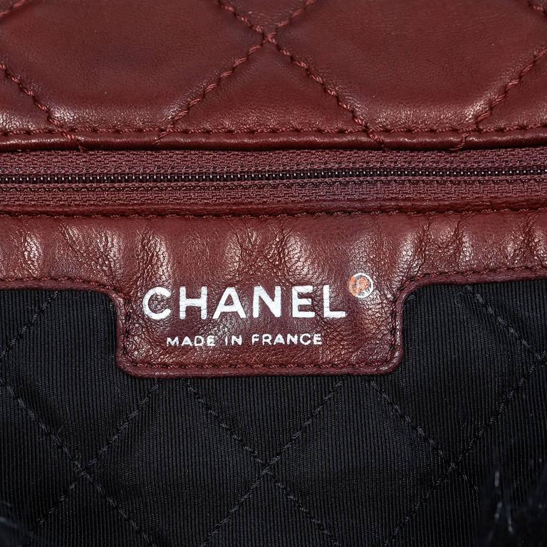 Chanel Bordeaux Fur Arctic Flap Bag 8