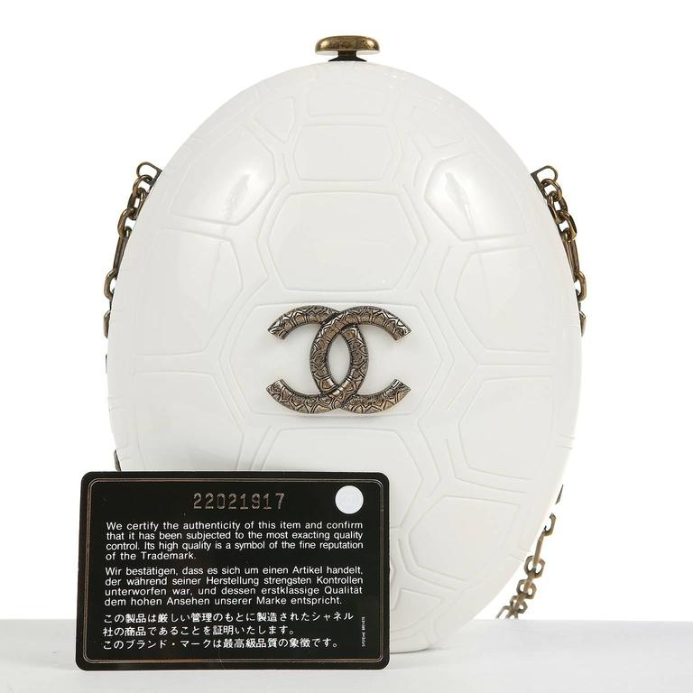 Chanel Ivory Resin Turtle Shell Print Bag with Strap- 2016 CRUISE For Sale 5