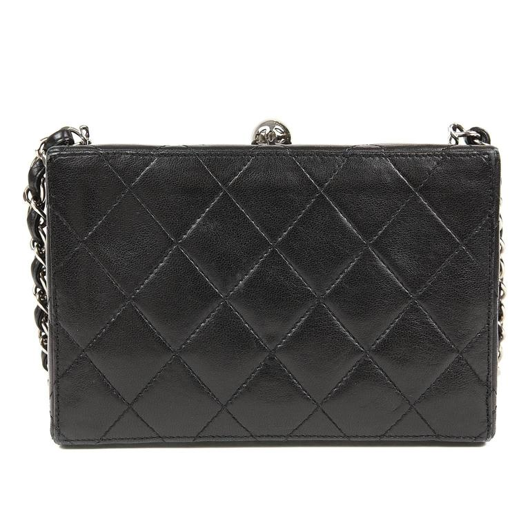 Chanel Black Quilted Leather Mini Box Bag 2