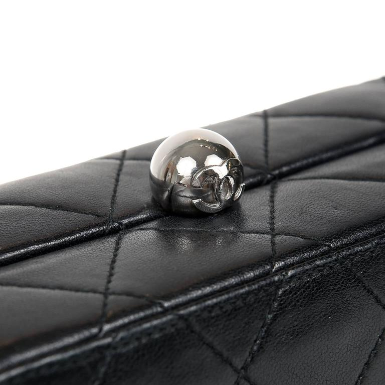 Chanel Black Quilted Leather Mini Box Bag 6