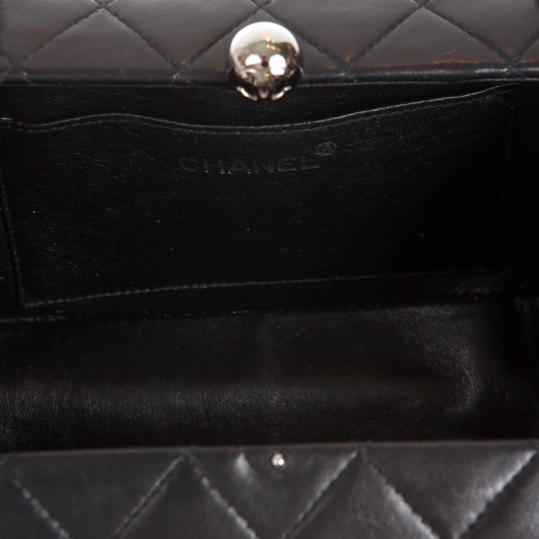 Chanel Black Quilted Leather Mini Box Bag 7