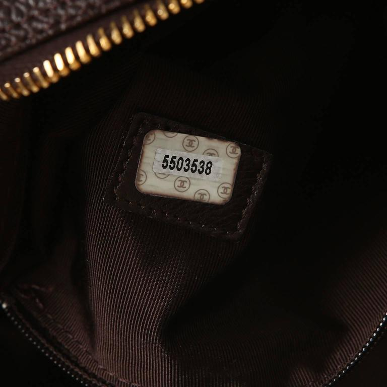 Chanel Espresso Caviar Leather Backpack 10