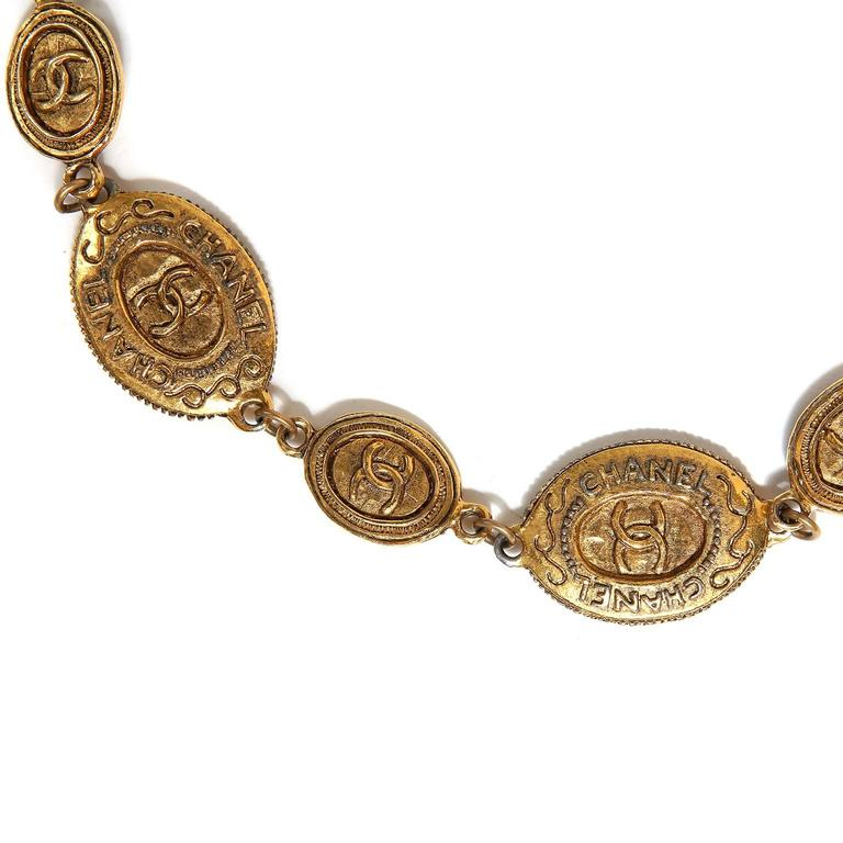 Chanel Oval Coin Necklace For Sale 1