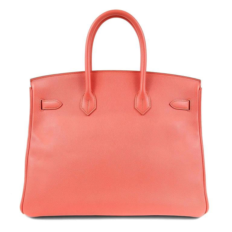 Hermès Pink Flamingo Epsom 35 cm Birkin - Pristine   Considered the ultimate luxury item, the Hermès Birkin is stitched by hand. Waitlists are commonplace.   Pink Flamingo, a very desirable pop color, is a must have for pink lovers.    Epsom leather