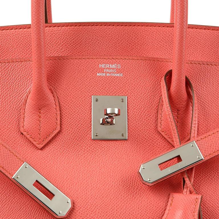 Hermès Pink Flamingo Epsom Birkin- 35 cm with  PHW For Sale 2