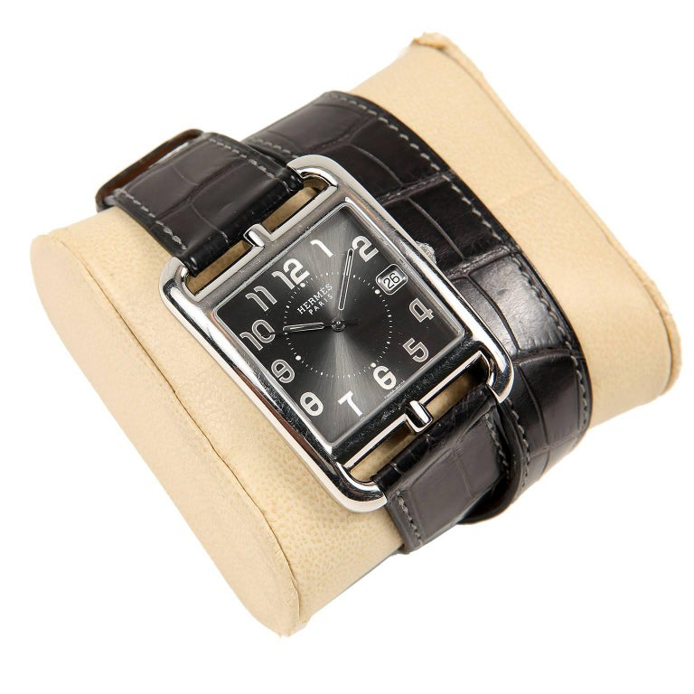 Hermès Cape Cod Watch  with Double Tour Band In Excellent Condition For Sale In Malibu, CA