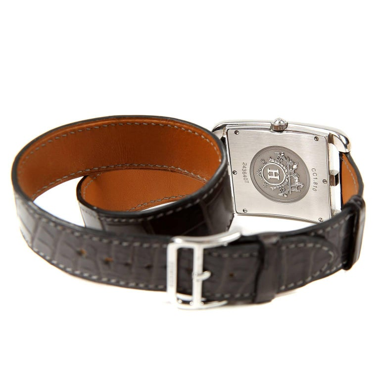 Women's or Men's Hermès Cape Cod Watch  with Double Tour Band For Sale