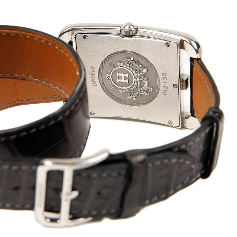 Hermès Cape Cod Watch  with Double Tour Band For Sale 1