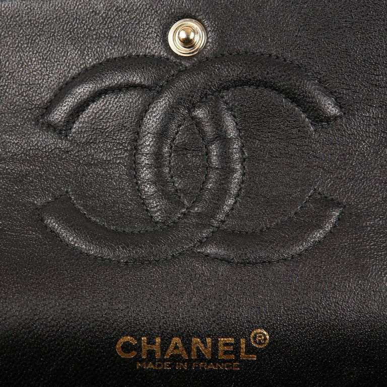 Chanel Black Madame Coco Classic Double Flap Runway Bag ...