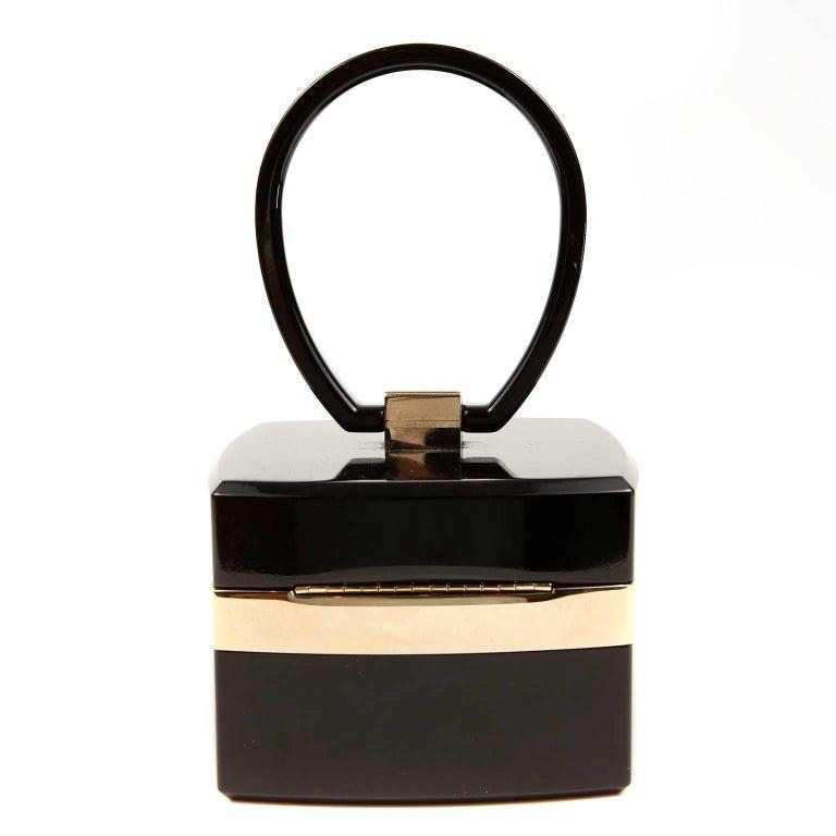 Chanel Black Lucite and Gold Devil Wears Prada Bag 2