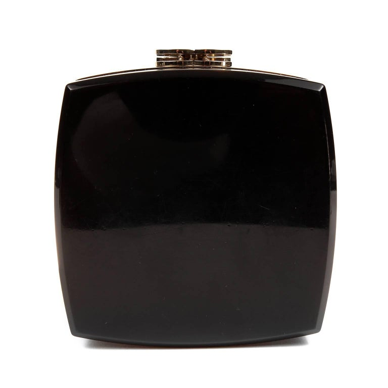 Women's Chanel Black Lucite and Gold Devil Wears Prada Bag For Sale