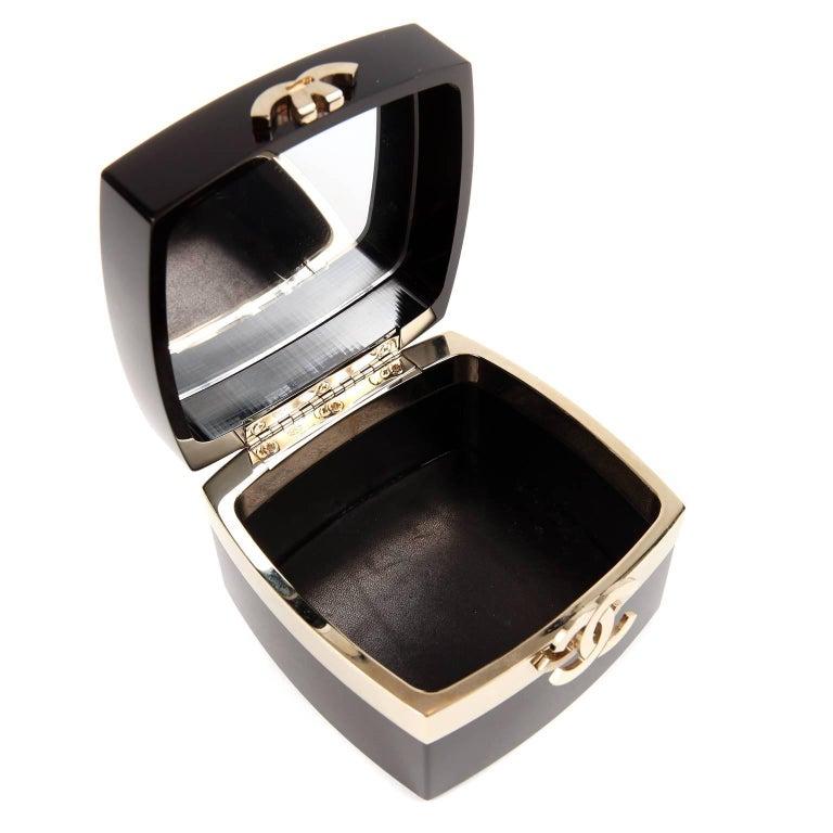 Chanel Black Lucite and Gold Devil Wears Prada Bag For Sale 3