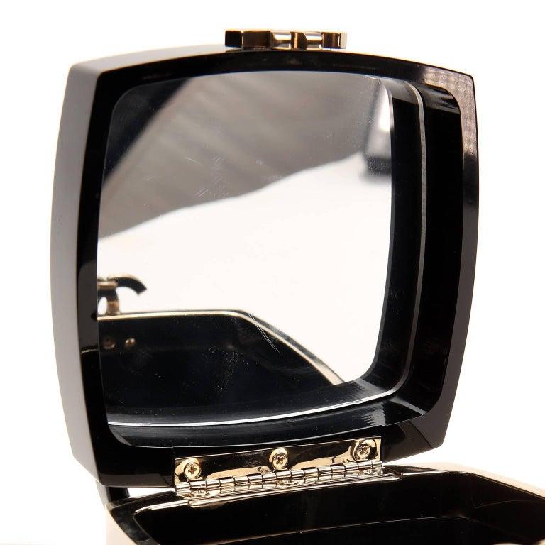 Chanel Black Lucite and Gold Devil Wears Prada Bag For Sale 5