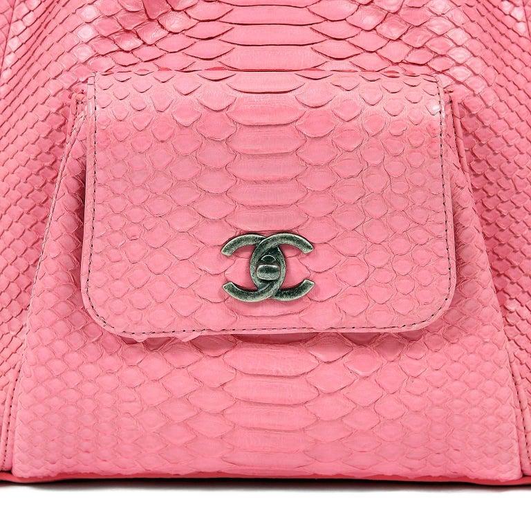 Chanel Pink Python Backpack For Sale 1