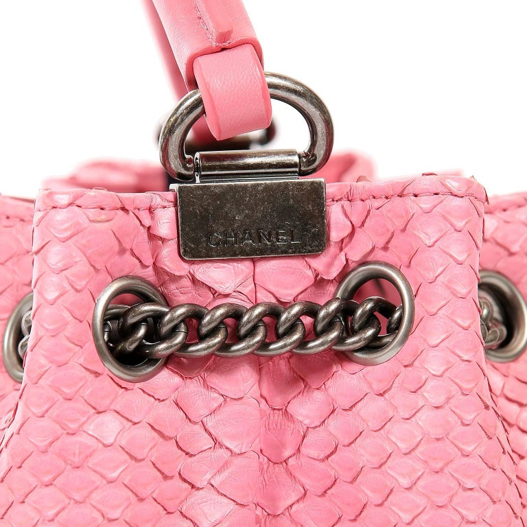 Chanel Pink Python Backpack For Sale 2