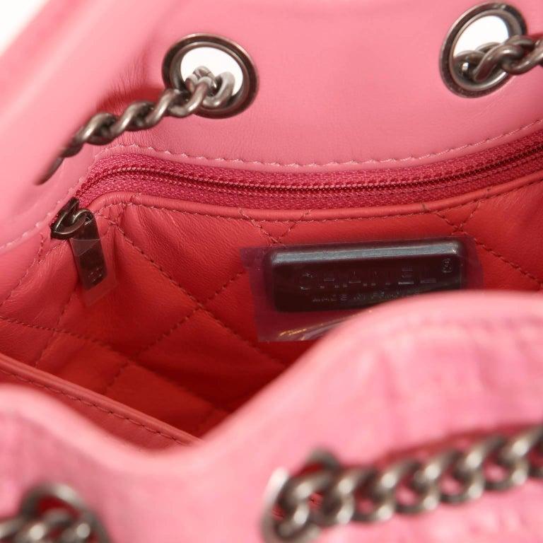 Chanel Pink Python Backpack For Sale 4