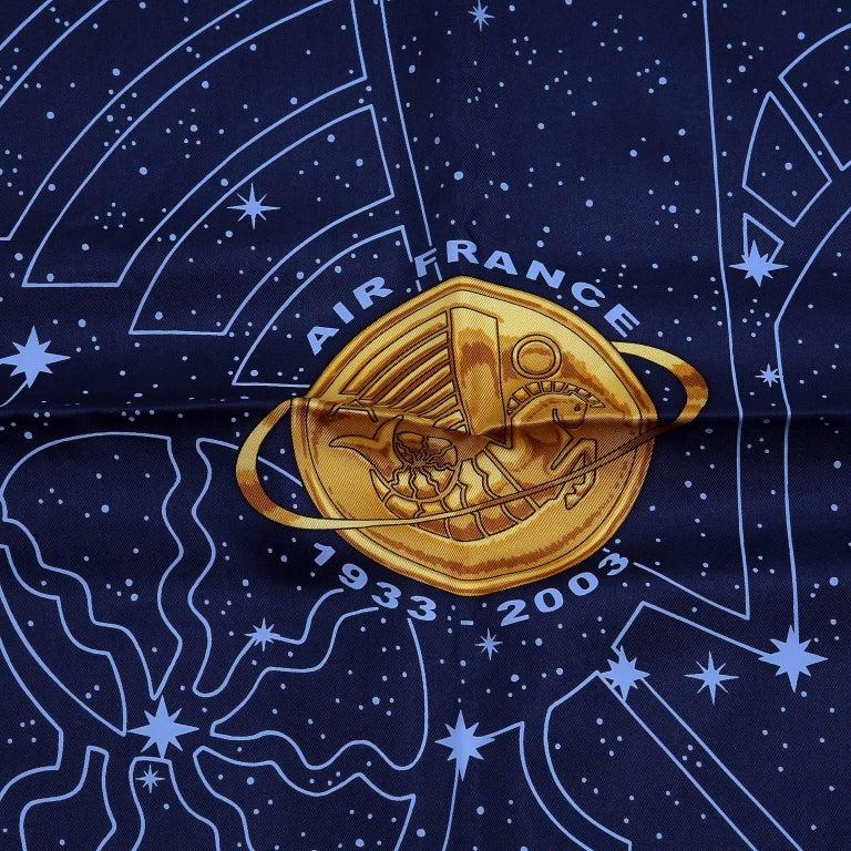 Hermes Cosmos Midnight Blue 90 cm Silk Scarf 6