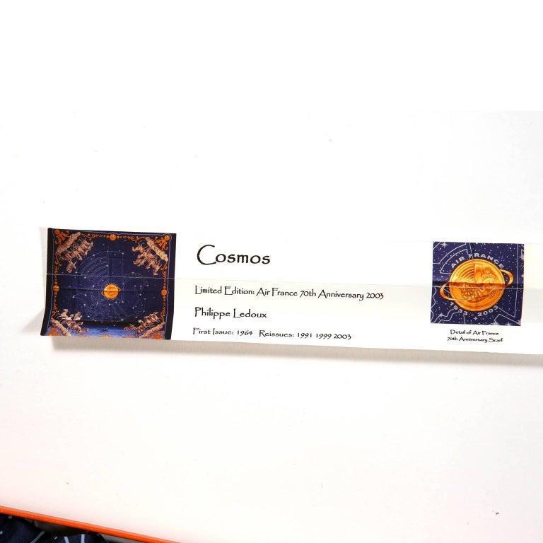 Hermes Cosmos Midnight Blue 90 cm Silk Scarf 9