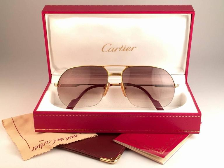 Cartier Sunglasses Box  new cartier tank orsay half frame 58mm 18k gold plated sunglasses