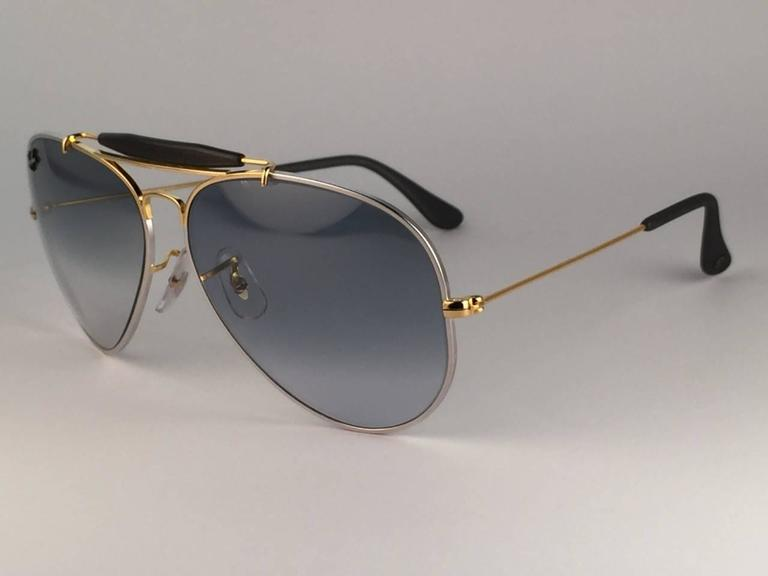 66c47066736 New Ray Ban Precious Metals 24k Gold Platinum B L Outdoorsman 62  USA  Sunglasses For
