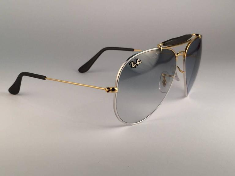 bee766d664d Women s or Men s New Ray Ban Precious Metals 24k Gold Platinum B L Outdoorsman  62