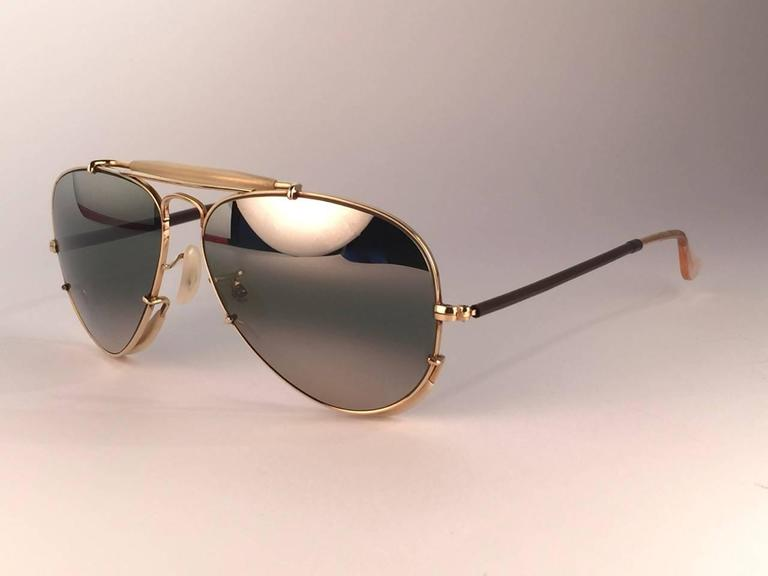 New Ray Ban Deep Freeze 12K Gold Outdoorsman Collectors Item USA Sunglasses 6