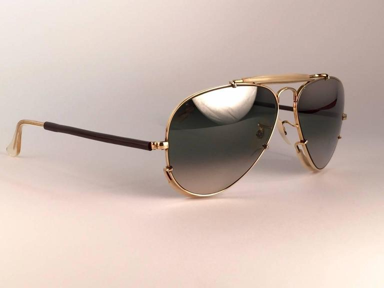 New Ray Ban Deep Freeze 12K Gold Outdoorsman Collectors Item USA Sunglasses 8