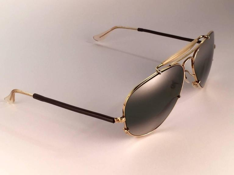 New Ray Ban Deep Freeze 12K Gold Outdoorsman Collectors Item USA Sunglasses 7