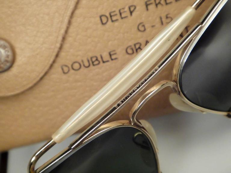 New Ray Ban Deep Freeze 12K Gold Outdoorsman Collectors Item USA Sunglasses 10