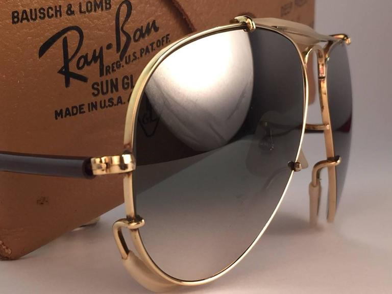 New Ray Ban Deep Freeze 12K Gold Outdoorsman Collectors Item USA Sunglasses 2