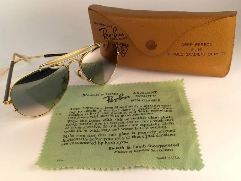 New Ray Ban Deep Freeze 12K Gold Outdoorsman Collectors Item USA Sunglasses 4