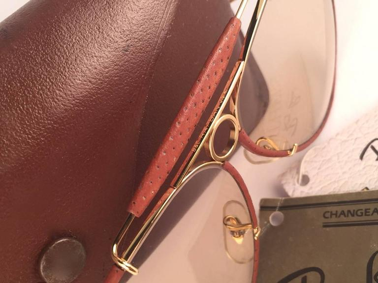7781fcaa424 New Vintage Ray Ban Ostrich Leather Shooter 62Mm B L Sunglasses In New  Condition For Sale In