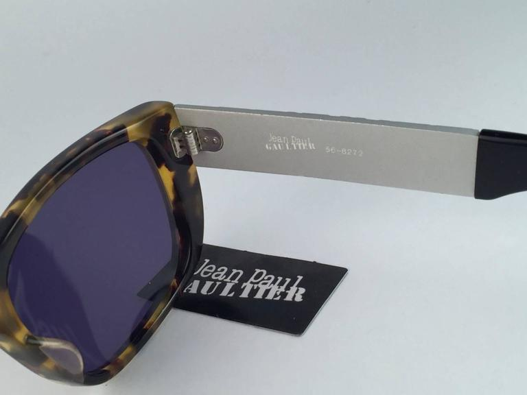 Women's or Men's New Jean Paul Gaultier 56 8272 Tortoise Iconic Collectors Item 1990's Japan  For Sale