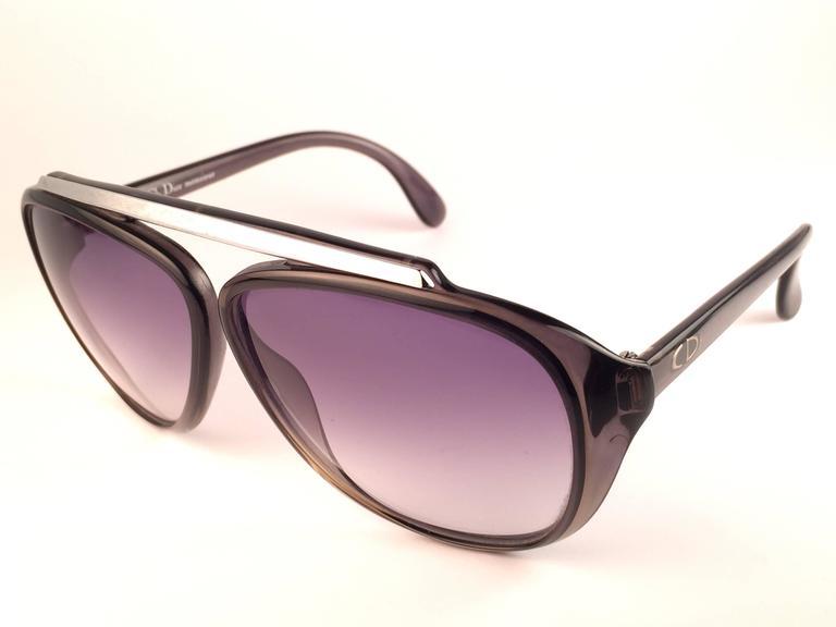 40c06c173ea New Vintage Christian Dior Monsieur 2059 11 Optyl Blue Gradient 1970  Sunglasses For Sale 3
