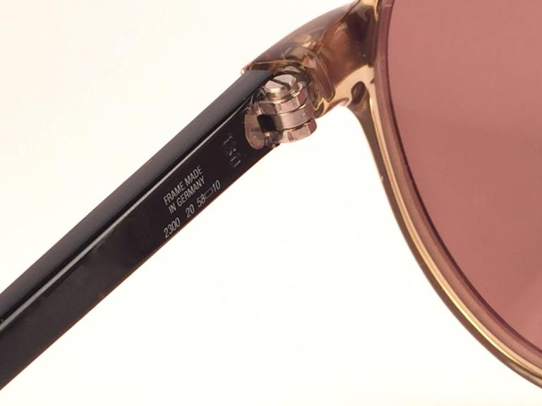 New Vintage Christian Dior Monsieur 2300 20 Optyl Gold Mirror 1970 Sunglasses In New never worn Condition For Sale In Amsterdam, NL
