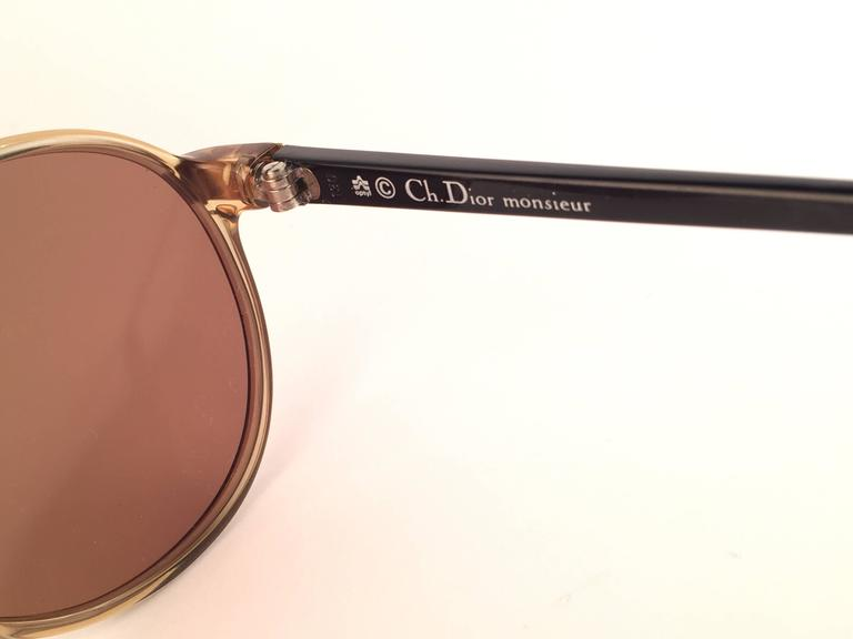 Women's or Men's New Vintage Christian Dior Monsieur 2300 20 Optyl Gold Mirror 1970 Sunglasses For Sale