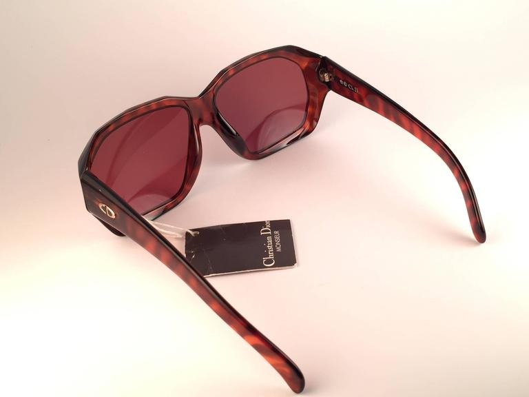 New Vintage Christian Dior Monsieur 2466 14 Oversized Optyl 1970 Sunglasses 7