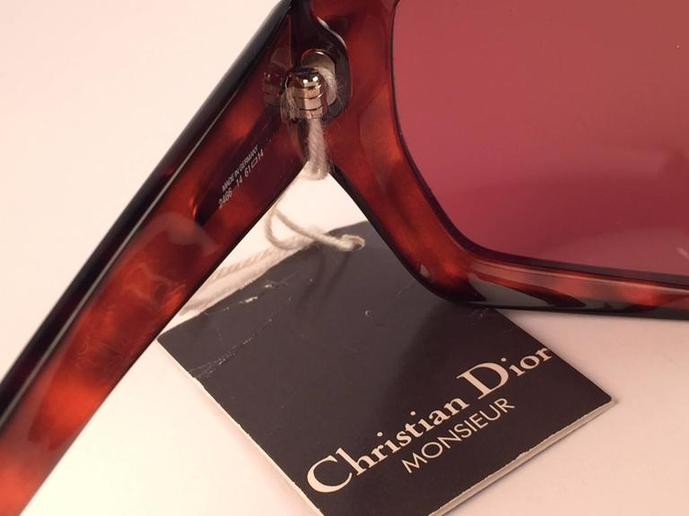 New Vintage Christian Dior Monsieur 2466 14 Oversized Optyl 1970 Sunglasses 5