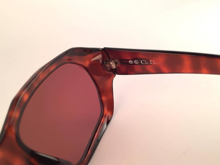 New Vintage Christian Dior Monsieur 2466 14 Oversized Optyl 1970 Sunglasses 6