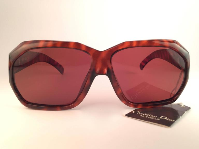 New Vintage Christian Dior Monsieur 2466 14 Oversized Optyl 1970 Sunglasses 2