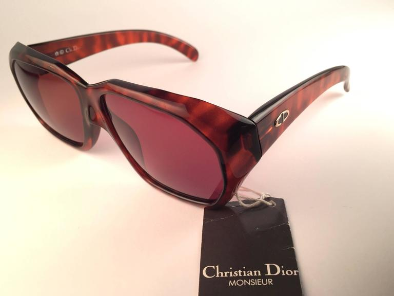 New Vintage Christian Dior Monsieur 2466 14 Oversized Optyl 1970 Sunglasses 8