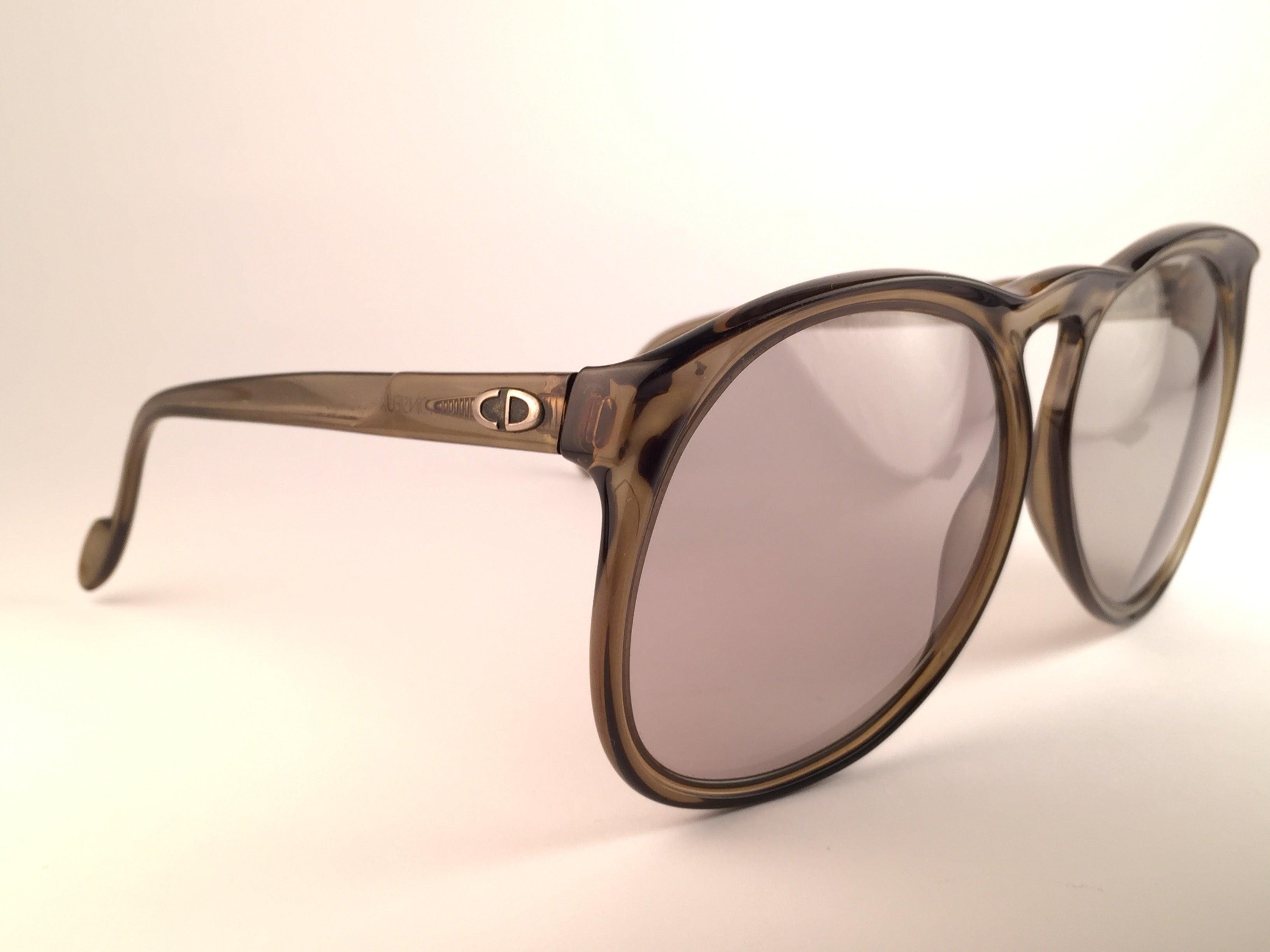 a3c88ed457c New Vintage Christian Dior Monsieur D62 Oversized Green Optyl Austria  Sunglasses at 1stdibs