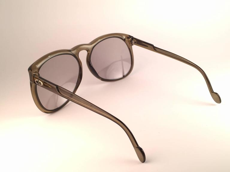 New Vintage Christian Dior Monsieur D62 Oversized Green Optyl Austria Sunglasses 6