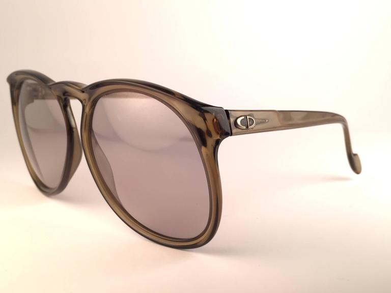 New Vintage Christian Dior Monsieur D62 Oversized Green Optyl Austria Sunglasses 2