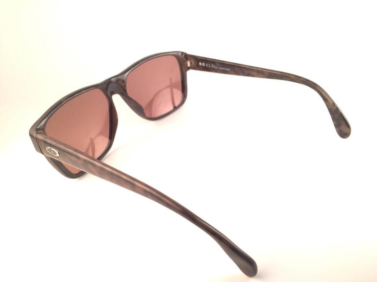 New Vintage Christian Dior Monsieur 2386 20 Optyl Camouflage 1970 Sunglasses 6