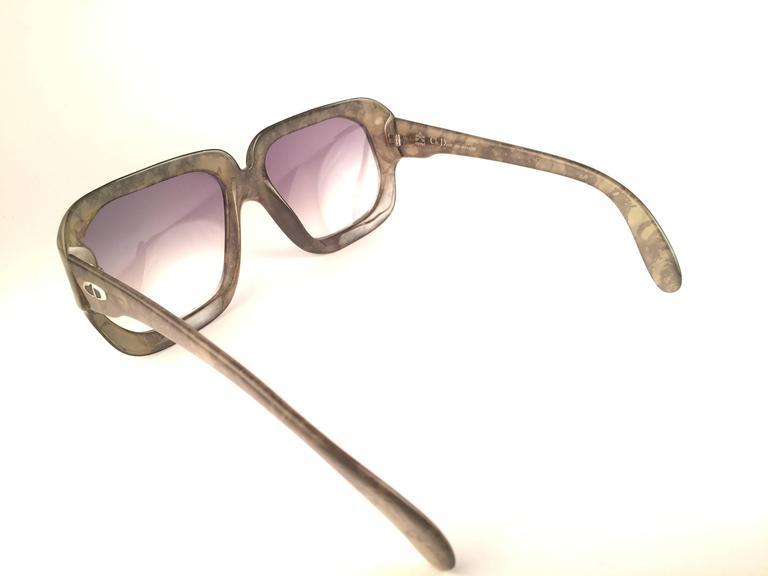 New Vintage Christian Dior Monsieur 2024 60 SunglassesGreen Marbled Sunglasses 7