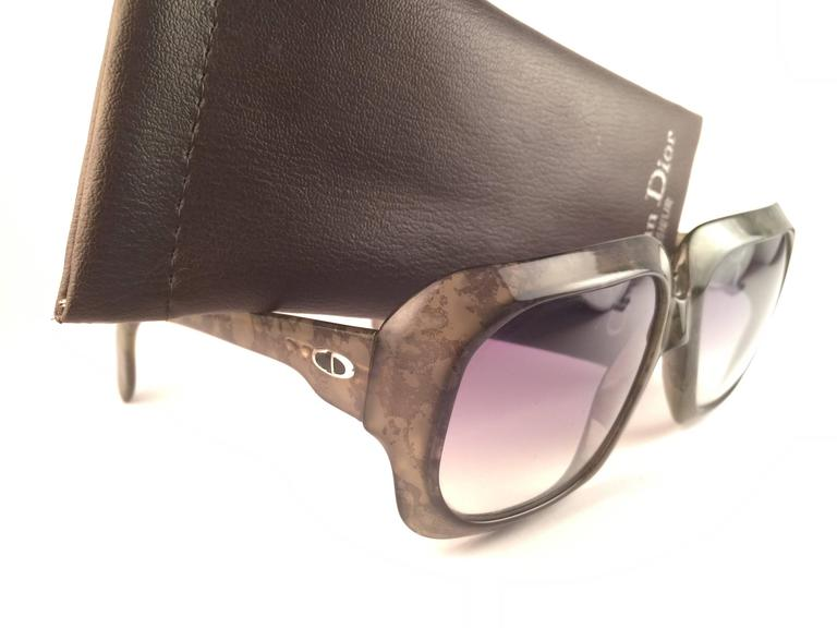 New Vintage Christian Dior Monsieur 2024 60 SunglassesGreen Marbled Sunglasses 3